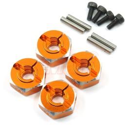 Hexagones de roues Alu Orange 12x 5mm Yeah Racing WA-031OR