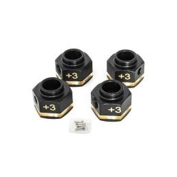 Hexagones de roue en cuivre 12 x 8mm 25gr Hobbytech HT-SU1801137