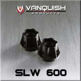 Hexagone de roue hubs SLW 600 alu noir epaisseur 15.2mm Vanquish VPS07114