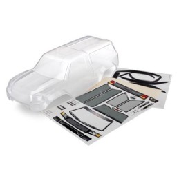 Carrosserie transparente Trexxas-4 Sport Camper + autocollants - 8112