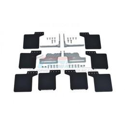 Kit bavettes de roues adaptables scale supports gris SCX10III Jeep  / TRX4 GPM TRX4ZSP72-GS