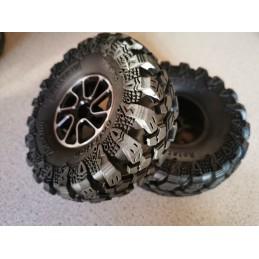 Set de jantes plastiques  noires   1.9  avec pneus ZDracing  Super Soft CNracing  10021