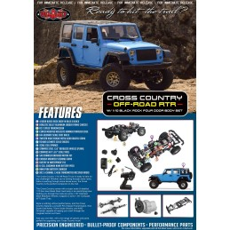 RC4WD Cross Country Off-Road RTR W/ 1/10 Black Rock  4 portes   Z-RTR0046