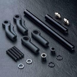 Kit barre de direction aluminium noir pour MST CMX/CFX MST210566BK