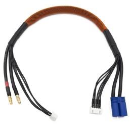 Cable de charge 40 cm avec equilibrage pour accu 4s prise EC5  KN-130446