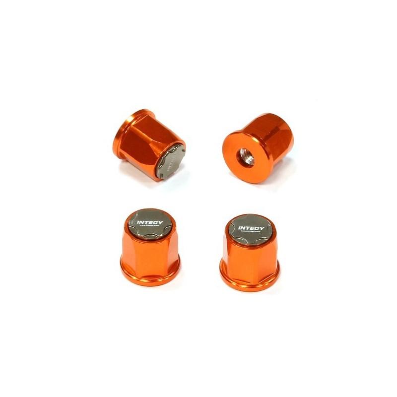 Ecrou de roue moyeu réalistic Crawler Alu Orange pour jante 1.9 -1/10e Integy