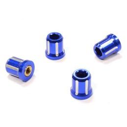 Ecrou de roue - moyeu alu Bleu M4 pour 1/10e scale crawler Integy