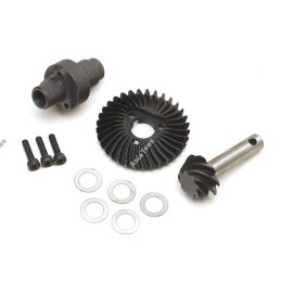 Engrenage pignons de pont Boom Racing Heavy Duty Keyed Bevel Helical Underdrive Gear 33/8T pour BRX70/BRX90/AR44/AR45 - BR955042