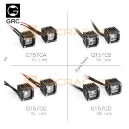 Ensemble de projecteurs carrés GRC 1/10 6 Round Lens Square pour Axial SCX10 III - GRC/G157CD