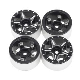 Jantes alu beadlock Starfish-Pro 1.0 pour scx24 Noires Hobby détails DTSCX24-32B