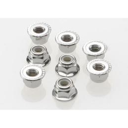 Traxxas Ecrous acier nylstop 4mm (x8) - 3647