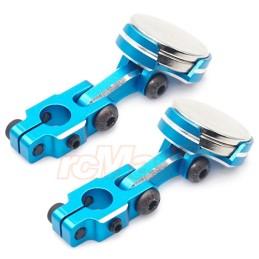 Aimants de fixation de carrosserie adaptables bleus Yeah Racing - YA-0531BU