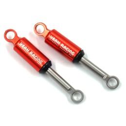 Amortisseurs en aluminium rouge Yeah Racing pour Axial SCX24 (2 pièces) - AXSC-063RD