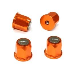 Ecrou de roue / moyeu alu Orange 2.2 pour 1/10 scale crawler Integy(4)