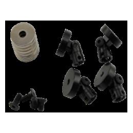 Aimants supports de carrosserie noirs Hobby Details (4) - DTDR01002B
