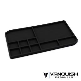 Plateau de pièces en caoutchouc noir Vanquish - VPS10160