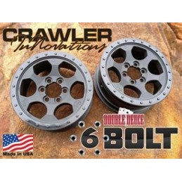 "Jantes 6 Bolt 1.5"" performance 2.2 Crawler Innovations"