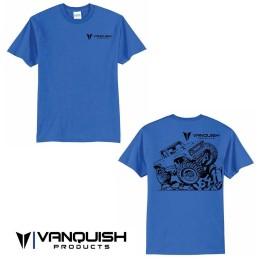 Tee-shirt bleu Vanquish Products VS4-10 taille L - VPS00110