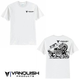 Tee-shirt blanc Vanquish Products VS4-10 taille L - VPS00103