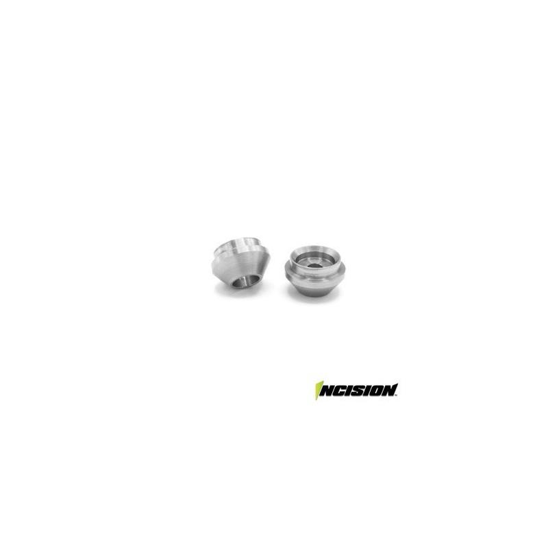Coupelles en aluminium pour amortisseurs incision grises Vanquish - IRC00461