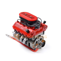 Moteur F76 SOHC V8 Scale Engine Kit Rouge GRC - GRC/G164AR