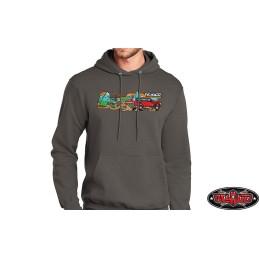 Sweat-shirt 2XL gris à capuche Lifestyle Hoodie RC4WD - Z-L0369