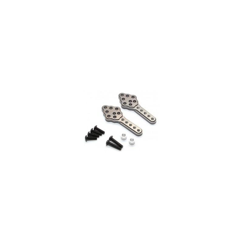 Support de tour d'amortisseur réglable avant/arrière bronze pour Axial SCX10 GPM RACING - SCX028MGS