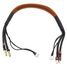 Câble de charge 40cm avec équilibrage pour accu 2S prise Dean KONECT - KN-130442