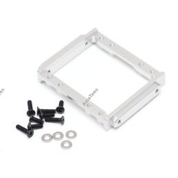 Support servo en aluminium silver TEAM RAFFEE pour Element RC Enduro - TRC/1059006S
