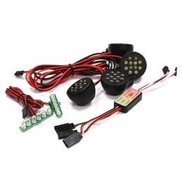 Kit 4 leds avant +frein gros diametre 35mm avec boitier de controle INTEGY