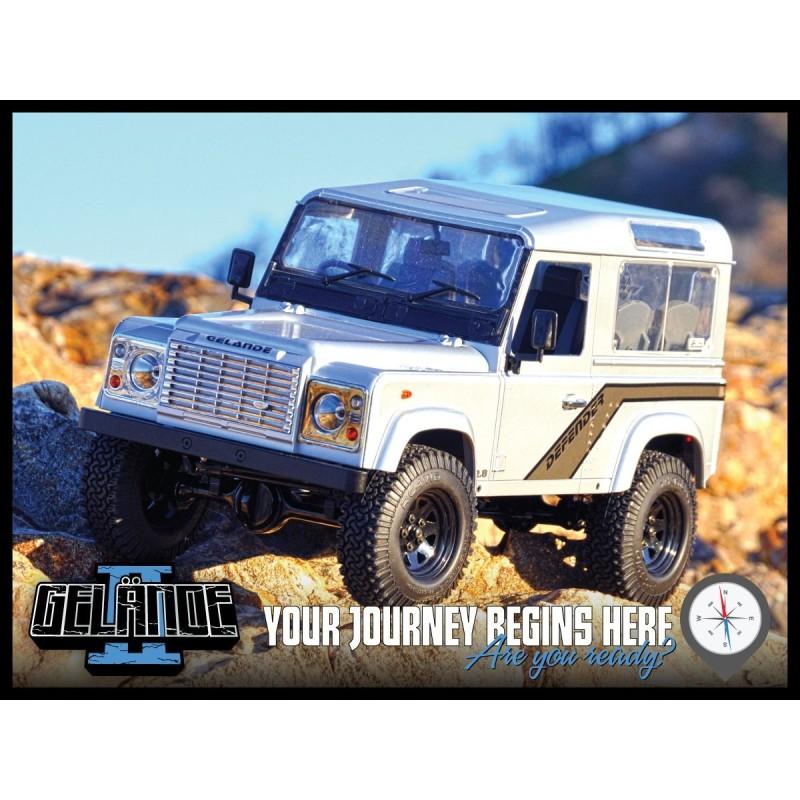 Gelande II Truck Kit avec carrosserie D90 Defender