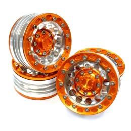 Jantes alu Orange beadlock 1.9 12H  High mass scale crawler Integy(4)