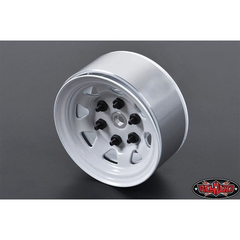 Jante alu Blanche Stamped 1.55 beadlock RC4WD (1)