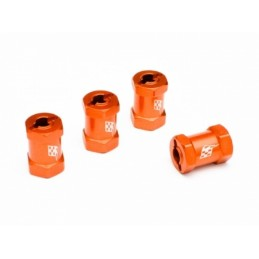 Elargisseurs alu Orange +14mm Boom Racing (4)