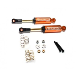 Amortisseur Boomerang alu Orange interne type I scale 110mm Boom Racing (2)