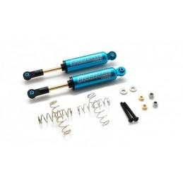 Amortisseur Boomerang alu Bleu interne type I scale 90mm Boom Racing (2)