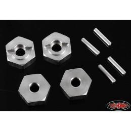 Hexagones alu silver épaisseur 6mm RC4WD (4)