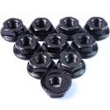 Ecrou cranté 4mm aluminium Noir(10)