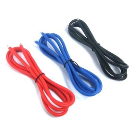 Set de fils silicone 14 AWG Noir / Rouge / Bleu Yeah Racing
