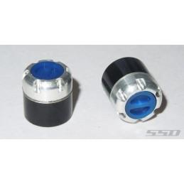 Hexagones de roues / moyeu Scale Réaliste Bleu  - SSD