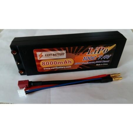 Accus Lipo 2S  coqué 7,4 v 8000mah 100C Vant Battery