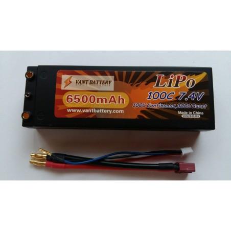 Accus Lipo 2S  coqué 7,4 v 6500 mah 100C Vant Battery