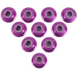 Ecrou frein épaulé aluminium M4 couleur Purple  Yeah Racing