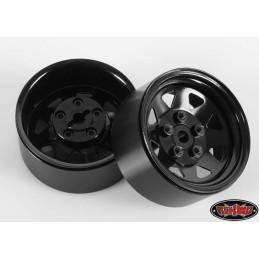 "Jantes 5 Lug Wagon 1.9"" Métal Stamped Beadlock  (Black) RC4WD"