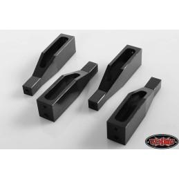 Supports de carrosserie alu noir Gelande 2 RC4WD