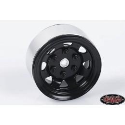 "Jantes  Stamped métal 1.55"" Stock Noires Beadlock  RC4WD (4)"