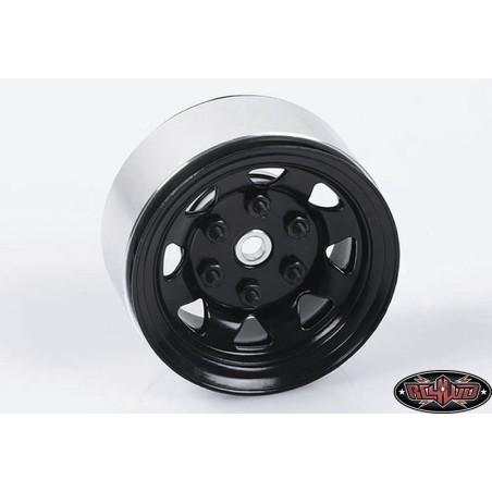 "Jantes  Stamped métal 1.55"" Stock Noires Beadlock  RC4WD (4)  Z-W0036"
