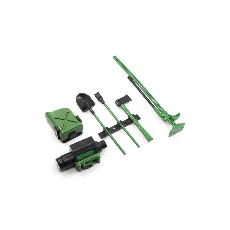 Set accessoires verts scales 4pcs Yeah Racing
