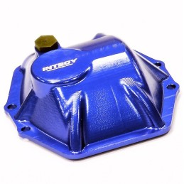 Capot de différentiel T4 métal bleu  pour AR60 Wraith / Ridgecrest Integy