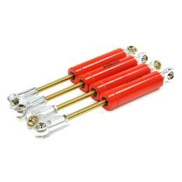 Amortisseurs métal rouge scale off road L105mm Integy